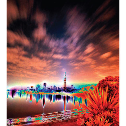 POSTER PRINTS 'CITYSCAPE' Auckland City (night photography)