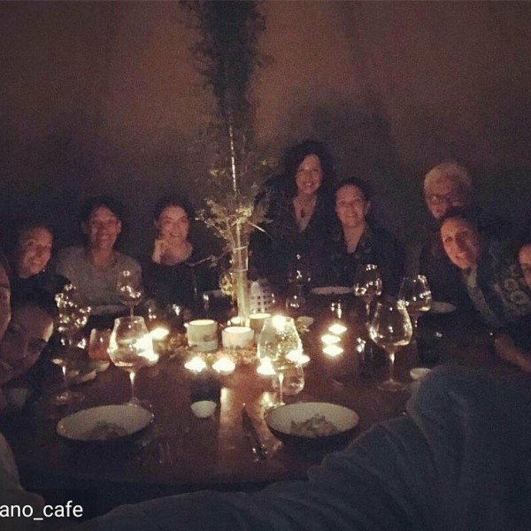 Group dinner at Nomadic Tents