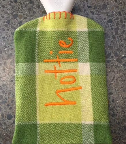 Retro Green Hot Water Bottle Cover