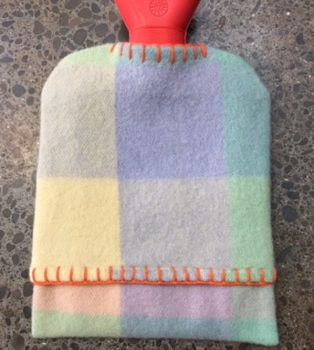 Retro Squared Hot Water Bottle