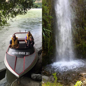 Motu River Jet Boat tour in Opotiki, NZ