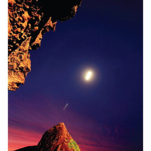POSTER PRINTS 'PIHA AURA' Piha Beach, Auckland (night photography)