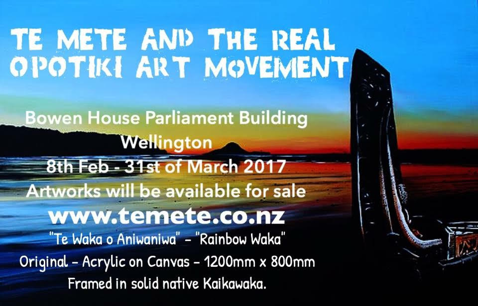 Te Mete Smith, latest exhibition in Parliament House
