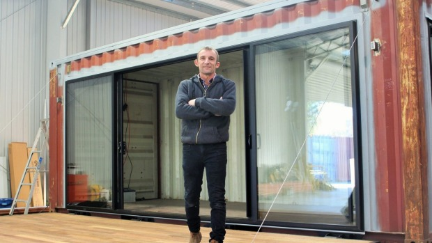 container2 The man creating homes out of ship containers