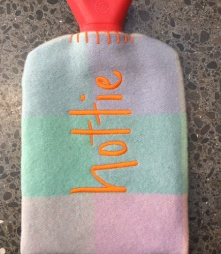 Retro Pink Hot Water Bottle Cover